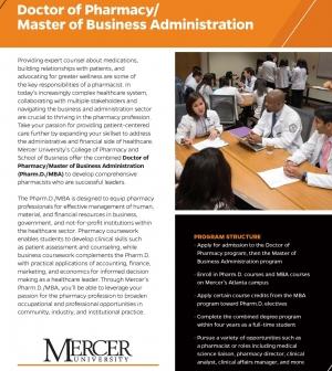 Combined PharmD MBA